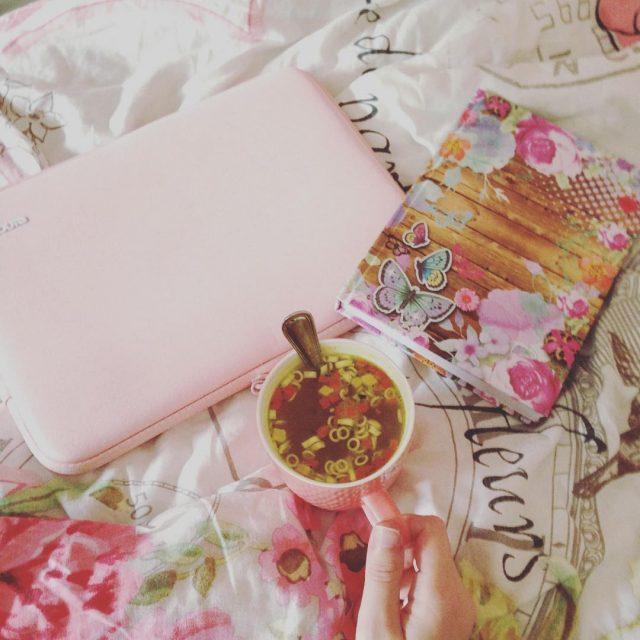 Kopje soep en lekker schrijven!
