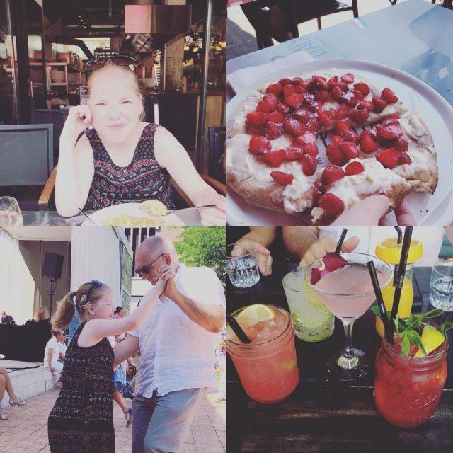 Vaderdag met paps geluncht bij Happy Italy  inclusief aardbeienpizzahellip